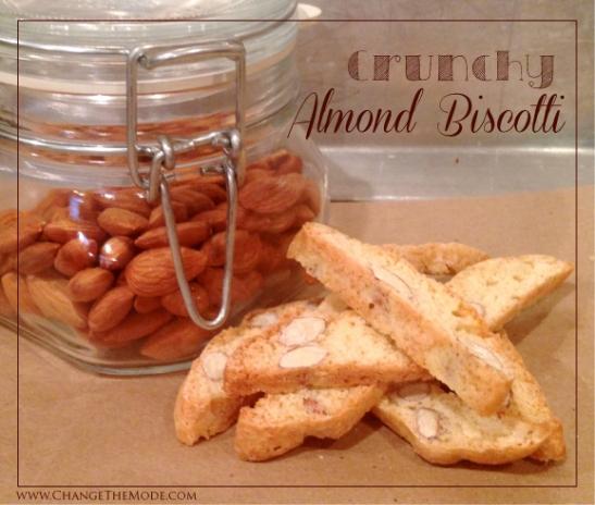 Homemade Crunchy Almond Biscotti - Change the Mode