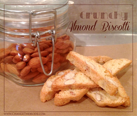 Homemade Crunchy Almond Biscotti - Change the Mode