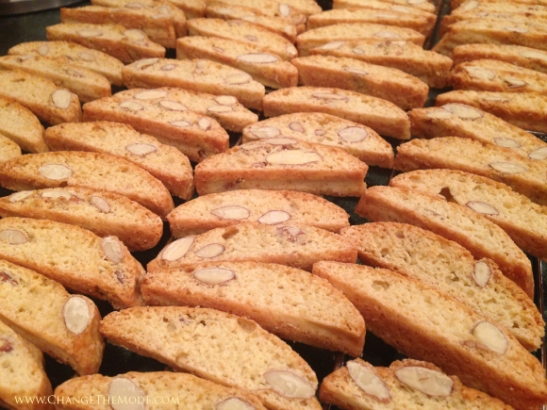 Rows of Almond Biscotti |Change the Mode